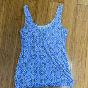 Gap periwinkle blue abstract flower tank top XS